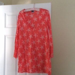 Starfish shirt can be used as coverup at beach